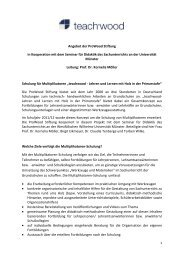 Angebot der ProWood Stiftung in Kooperation mit dem ... - TeachWood