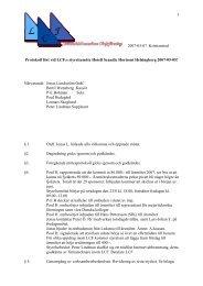 Protokoll fört vid LCF:s styrelsemöte Hotell Glostrup 2004-02-07