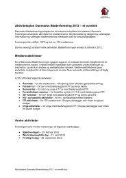 Læs foreningens handlingsplan 2012 her - Danmarks Bløderforening.