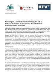 Wintersport – Unfallbilanz Vorarlberg 2011/2012