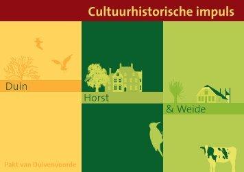 Folder Cultuurhistorische impuls Duin, Horst en Weide - Gemeente ...