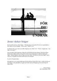 FÖR DIG SOM U DRAR Jesus väcker frågor - Micael Nilsson