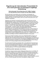 Regulierung der internationalen Finanzmärkte für eine ... - Heinlein
