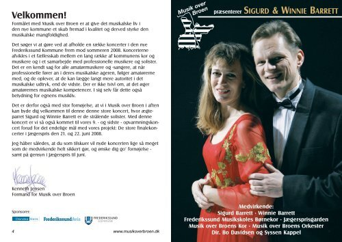 Program til koncerten - Fjordkoret