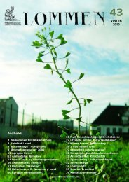 VINTER 2010 Indhold: - Nordisk Kulturlandskapsforbund