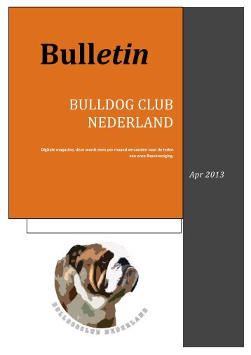 Notulen Ledenvergadering 14 april 2013 - Bulldog club Nederland