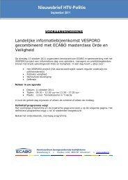 Landelijke informatiebijeenkomst VESPORO gecombineerd ... - Ecabo