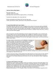 Laat uw baby veilig slapen formulier - BSO De Grote Uil