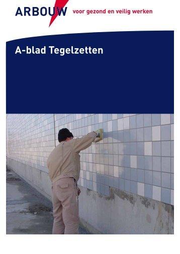 A-blad Tegelzetten - Arbouw