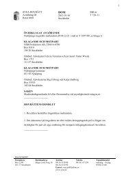 Svea hovrätts dom 2012-01-16 skadeståndskrav ... - och Bygglagen