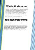 Talentenprogramma - Horizontoer - Page 7