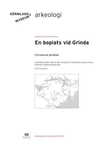 En boplats vid Grinda - Sörmlands museum