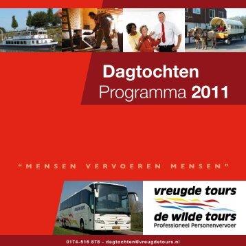 Dagtochten Programma 2011 - Vreugdetours