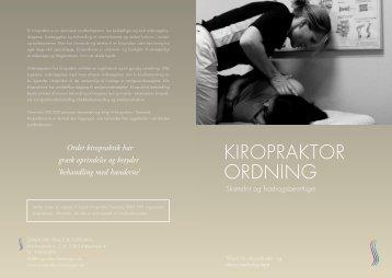 Kiropraktorordning - Dansk Kiropraktor Forening