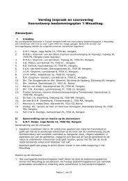 Bijlage 3 Verslag inspraak en vooroverleg ... - Gemeente Hengelo