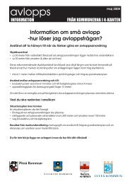 Information om små avlopp - Bodens kommun