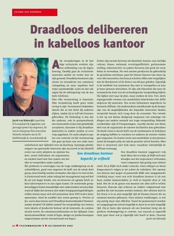 Draadloos delibereren in kabelloos kantoor - Jacob van Kokswijk