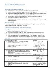 Skriveskabelon til skriftlig matematik Matematiske Eksempler