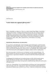 Vad är lokal och regional självstyrelse? - Olof Petersson