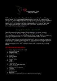 DS Personal Training School lovar tillgång till ett ... - Studio Aktiverum