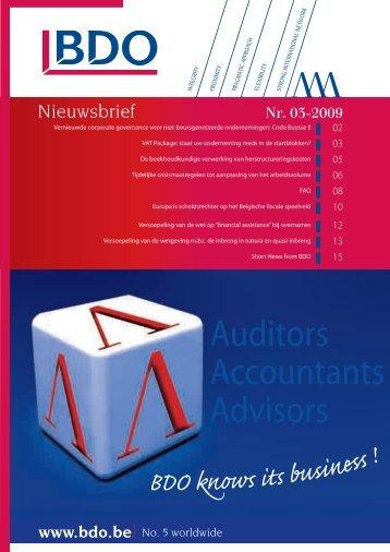 Auditors Accountants Advisors - Bdo.be