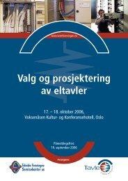 630158 Valg og Prosjekt.indd - Tekniske Foreningers Servicekontor ...