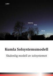 Description of our solar system model. - Kumla Astronomiklubb