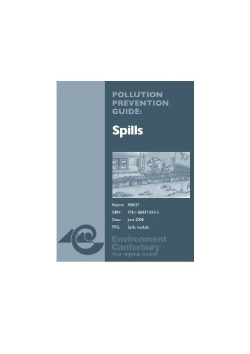 Spills - Environment Canterbury