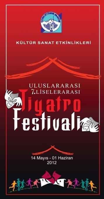 tiyatro festivali İÇ SAYFALAR... - Kayseri Büyükşehir Belediyesi