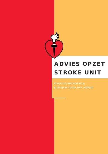 Advies opzet Stroke unit - Nederlandse Hartstichting