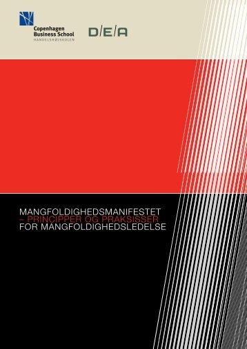 mangfoldighedsmanifestet – principper og praksisser for ... - divin.dk
