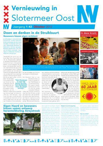 Buurtkrant Slotermeer Oost sept def - Stadsdeel Nieuw-West