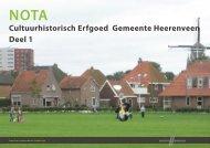 Erfgoednota deel 1 - Gemeente Heerenveen