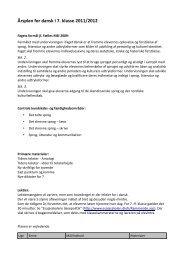 Årsplan for dansk i 7. klasse 2011/2012 - Esajasskolen
