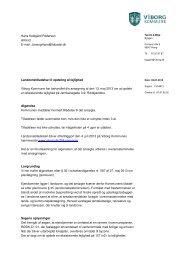 Landzonetilladelse til opdeling af lejlighed Viborg Kommune har ...