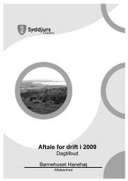 Aftale for drift i 2009
