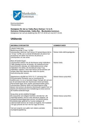 Detaljplaneprogram för - Munkedals kommun