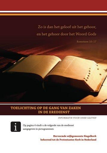 brochure erediensten - Singelkerk
