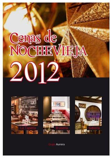Menús de Nochevieja 2012 - Grupo Aurrera