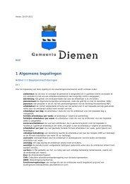 Arbeidsvoorwaardenregeling_Diemen__CAR-UWO - Gemeente ...
