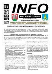 05.07.2013 - Marktgemeinde Sarleinsbach