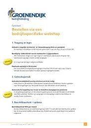 Bestellen via een bedrijfsspecifieke webshop - Groenendijk ...