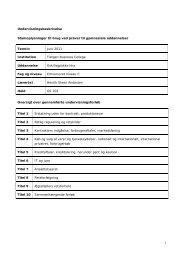Undervisningsbeskrivelse Stamoplysninger til brug ved prøver til ...