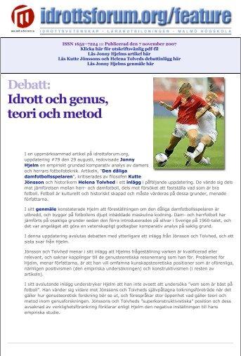 Klicka här för utskriftsvänlig pdf-fil - idrottsforum.orgs systersajter