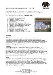 FAKTABLAD: Teknisk info och arbetsbeskrivning - Caparol Sverige AB