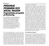 PERSONLIG PESSIMISM OCH SOCIAL TRAGEDI Pragmatistiska ...