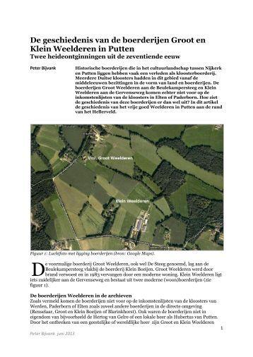 Artikel Weelderen - Historisch Geografische Artikelen