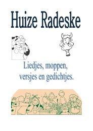 Bundel met liedjes, moppen, versjes en gedichten - Huize Radeske