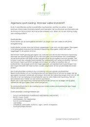 Algemene sportvoeding- Wanneer welke brandstof? - Carin Pool