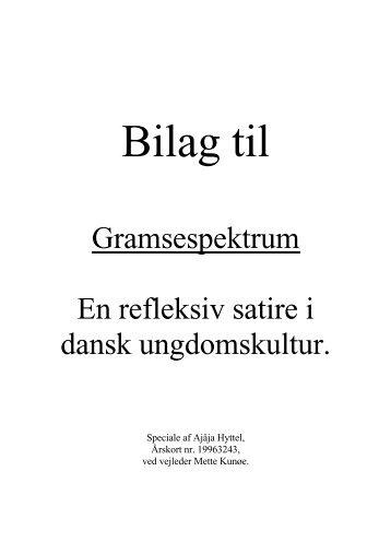 Gramsespektrum En refleksiv satire i dansk ungdomskultur. - Aarhus ...